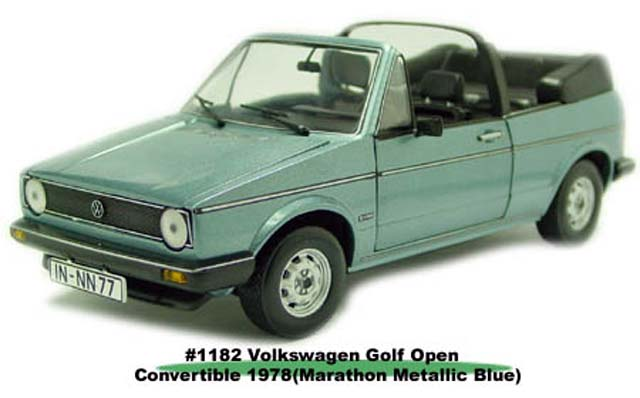 Sun Star: 1978 Volkswagen Gold Open Convertible - Marathon Metallic Blue (1182) в 1:18 масштабе