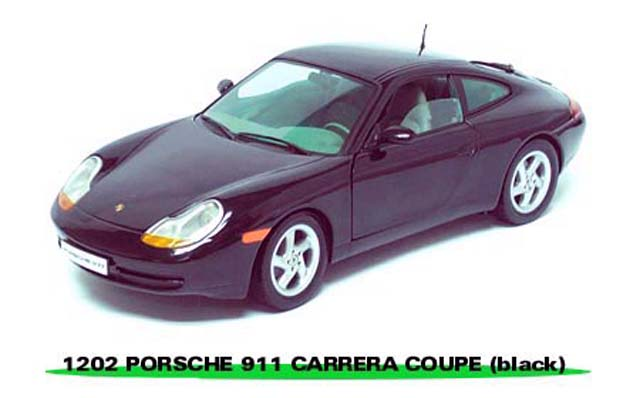 Sun Star: 1998 Porsche 911 - Black (1202) in 1:18 scale