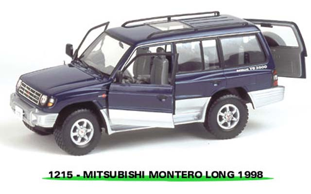 Sun Star: 1998 Mistubishi Montero Long 3.5 V6 - Royal Blue Pearl (1215) в 1:18 масштабе