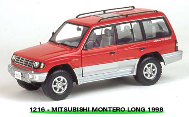 Sun Star: 1998 Mistubishi Montero Long 3.5 V6 - Cambridge Red Pearl (1216) in 1:18 scale