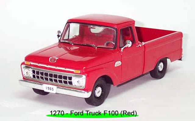 Sun Star: 1965 Ford F-100 Pick Up Styleside - Rangoon Red (1270) im 1:18 maßstab