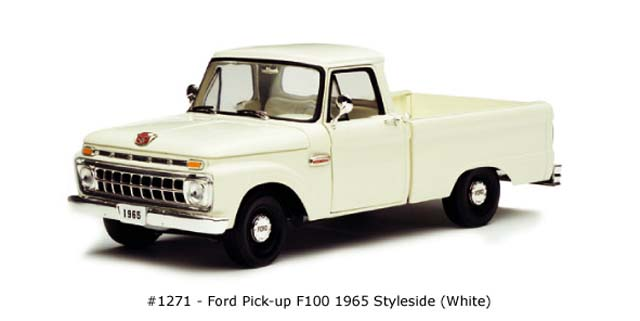 Sun Star: 1965 Ford F-100 Pick Up Styleside - White (1271) in 1:18 scale