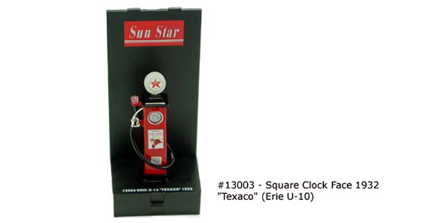Sun Star: SQUARE CLOCK FACE 1932 'TEXACO' (13003) in 1:43 scale