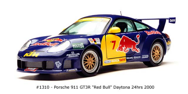 Sun Star: 2000 Porsche 911 GT3R Red Bull (1310) in 1:18 scale
