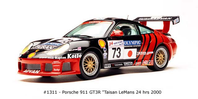 Sun Star: 2000 Porsche 911 GT3R Taisan (1311) in 1:18 scale