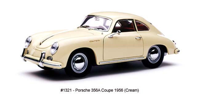Sun Star: 1965 Porsche 356A Coupe - Cream (1321) in 1:18 scale