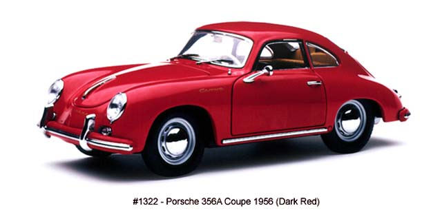 Sun Star: 1965 Porsche 356A Coupe - Dark Red (1322) im 1:18 maßstab
