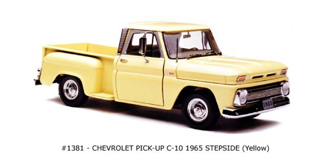 Sun Star: 1965 Chevrolet C-10 Stepside Pickup - Yellow (1381) в 1:18 масштабе
