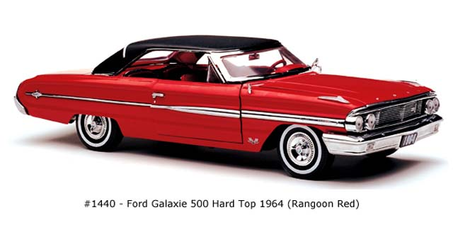 Sun Star: 1964 Ford Galaxie 500 Hard Top - Rangoon Red (1440) in 1:18 scale