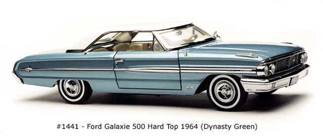 Sun Star: 1964 Ford Galaxie 500 Hard Top - Dynasty Green (1441) in 1:18 scale