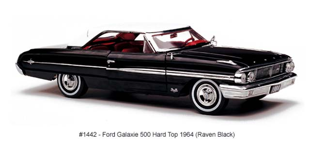 Sun Star: 1964 Ford Galaxie 500 Hard Top - Raven Black (1442) в 1:18 масштабе