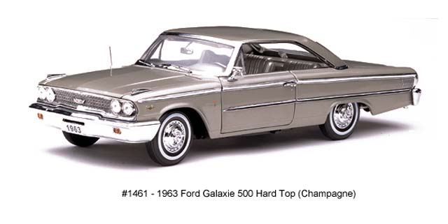 Sun Star: 1963 Ford Galaxie 500 Hard Top - Champagne (1461) in 1:18 scale
