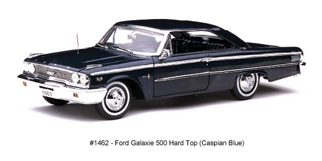 Sun Star: 1963 Ford Galaxie 500 Hard Top - Caspian (1462) in 1:18 scale