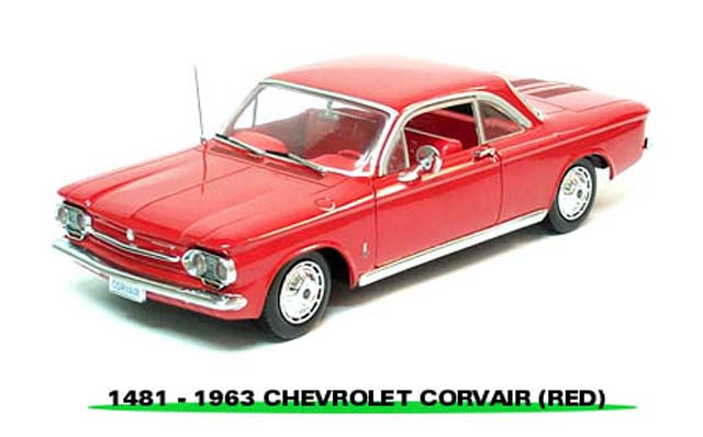 Sun Star: 1963 Chevrolet Corvair Coupe - Palomar Red (1481) im 1:18 maßstab