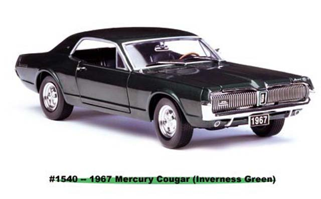 Sun Star: 1967 Mercury Cougar - Inverness Green (1540) im 1:18 maßstab
