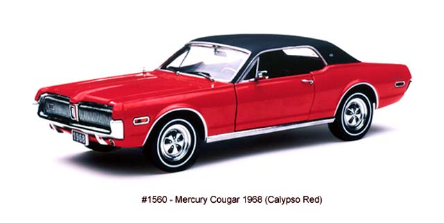 Sun Star: 1968 Mercury Cougar - Calypso Red (1560) в 1:18 масштабе