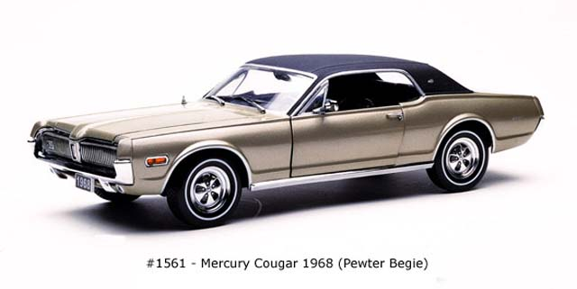 Sun Star: 1968 Mercury Cougar - Pewter Begie (1561) in 1:18 scale