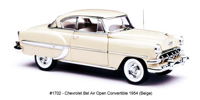Sun Star: 1954 Chevrolet Bel Air Hard Top Coupe - Beige (1702) in 1:18 scale