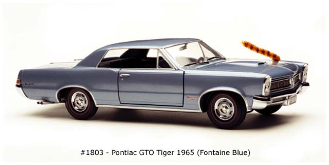 Sun Star: 1965 Pontiac GTO - Tiger Fontaine Blue (1803) в 1:18 масштабе