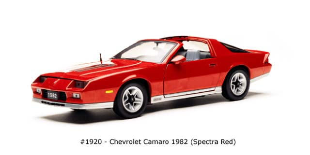 Sun Star: 1982 Chevrolet Camaro - Spectra Red (1920) в 1:18 масштабе