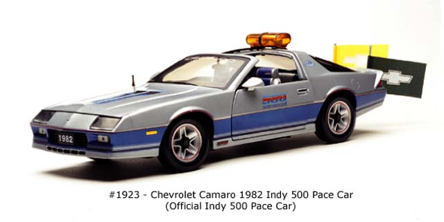Sun Star: 1982 Chevrolet Camaro Indy 500 Pace Car (1923) в 1:18 масштабе