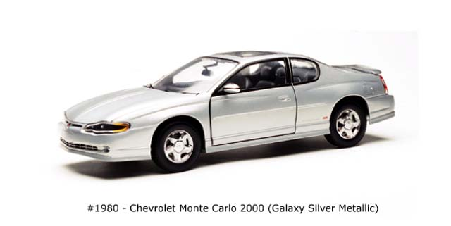 Sun Star: 2000 Chevrolet Monte Carlo - Galaxy Silver Metallic (1980) in 1:18 scale