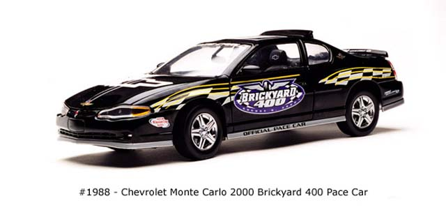Sun Star: 2000 Chevrolet Monte Carlo Brickyard 400 Pace Car (1988) в 1:18 масштабе