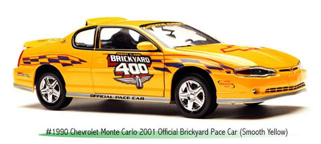 Sun Star: 2001 Chevrolet Monte Carlo Brickyard 400 Pace Car (1990) in 1:18 scale