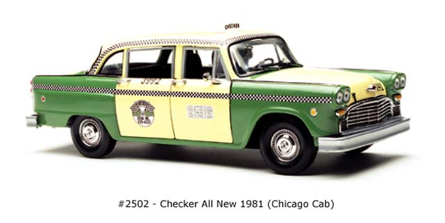 Sun Star: 1981 Checker All New Chicago Cab (2502) in 1:18 scale
