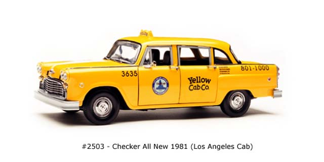 Sun Star: 1981 Checker All New Los Angeles Cab (2503) in 1:18 scale