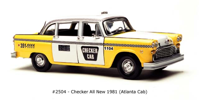 Sun Star: 1981 Checker All New Atlanda Cab (2504) im 1:18 maßstab