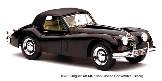 Sun Star: 1955 Jaguar XK140 Closed Convertible - Black (3203) im 1:18 maßstab