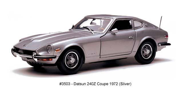 Sun Star: 1972 Datsun 240Z Coupe - Silver (3503) in 1:18 scale