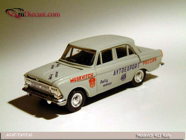 Agat/Tantal: Moskvich 412 Rally Service - Grey in 1:43 scale