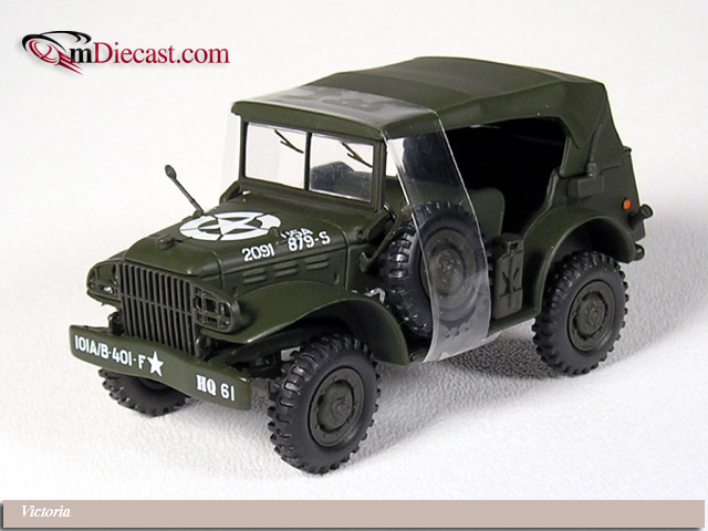 Victoria: 1944 Dodge WC56 Command Car US Army Closed (R053) in 1:43 scale