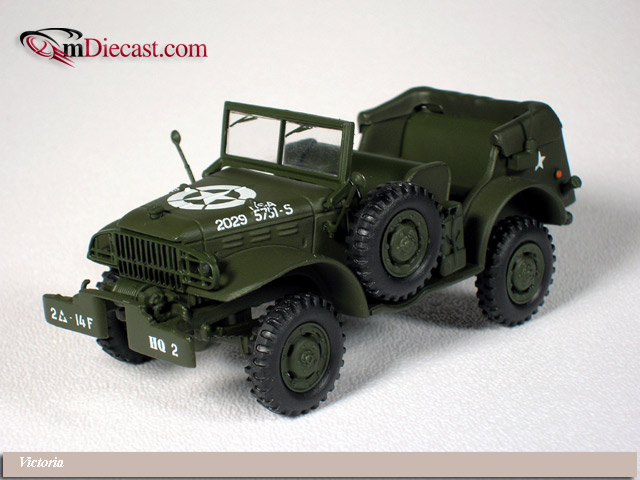 Victoria: 1944 Dodge WC57 Open Command Car D-Day (R055) in 1:43 scale