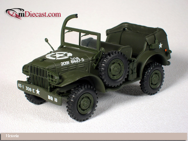 Victoria: 1944 Dodge WC56 Command Car US Army Open (R054) im 1:43 maßstab