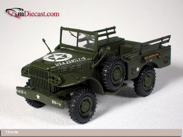 Victoria: Dodge WC51 Weapons Carrier U.S. Army Open (R046) в 1:43 масштабе