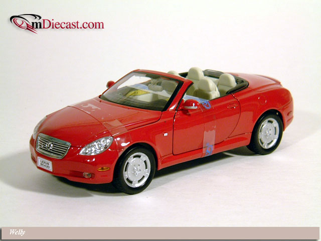 Welly: Lexus SC430 - Red (2518) im 1:18 maßstab