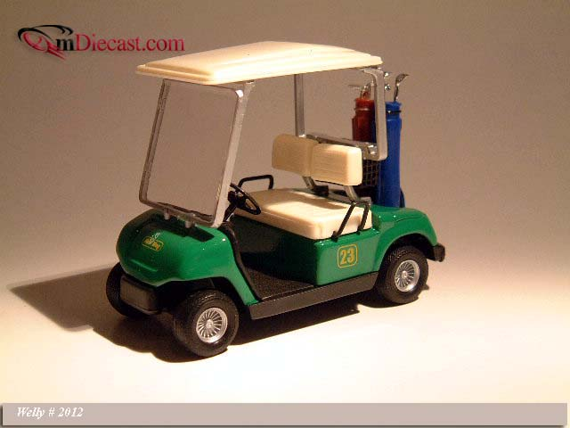 Welly: Golf Car #23 Green (2012) in 1:12 scale