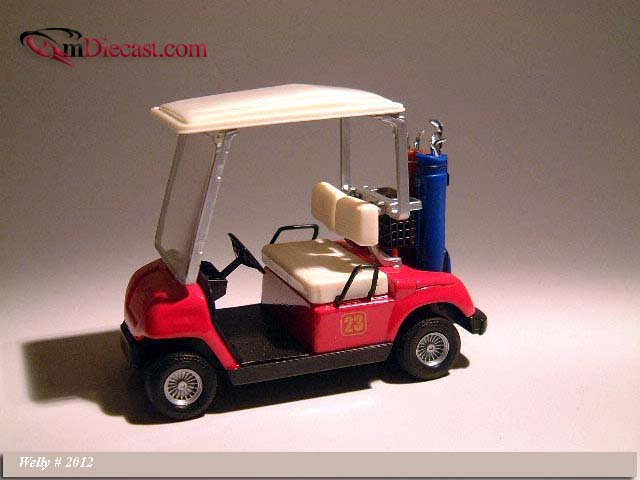 Welly: Golf Car #23 Red (2012) в 1:12 масштабе