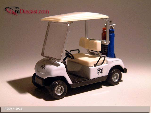 Welly: Golf Car #23 White (2012) im 1:12 maßstab