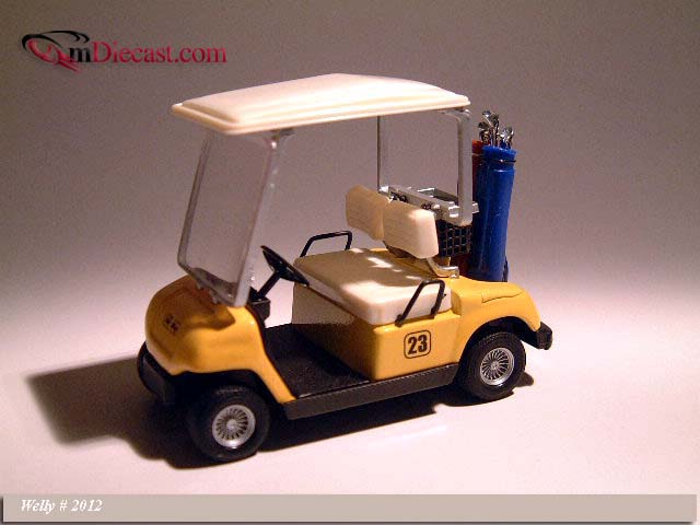 Welly: Golf Car #23 Yellow (2012) в 1:12 масштабе