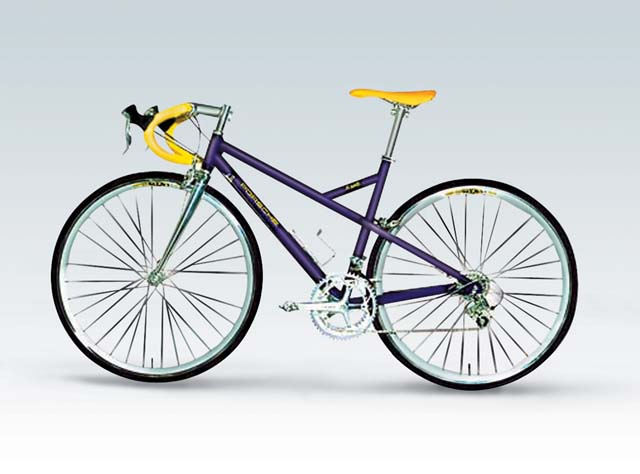 Welly 1:10 Porsche Bike R Diecast Bicycle Model Collection