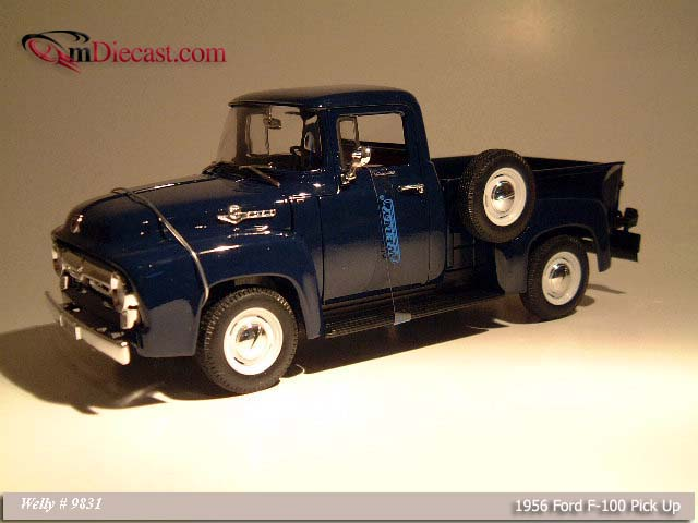 Welly: 1956 Ford F-100 Pick Up D. Blue (9831) in 1:18 scale