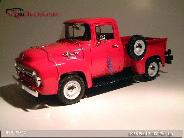 Welly: 1956 Ford F-100 Pick Up Red (9831) im 1:18 maßstab