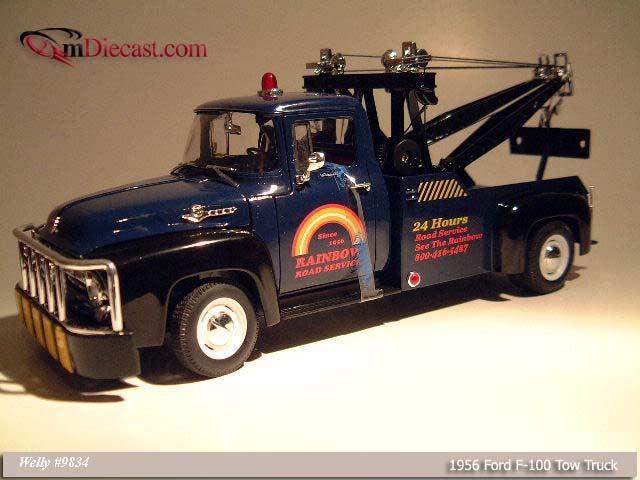Welly: 1956 Ford F-100 Tow Truck - Blue (9834) in 1:18 scale