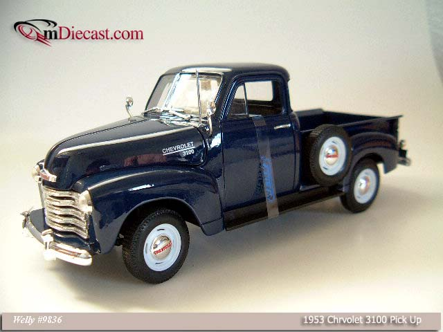 Welly: 1953 Chevrolet 3100 Pick Up - Blue (9836) в 1:18 масштабе