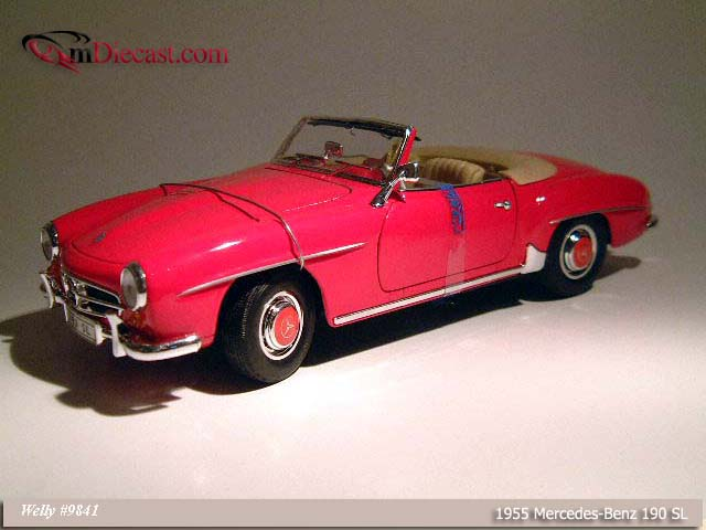 Welly: 1955 Mercedes-Benz 190SL - Red (9841) in 1:18 scale