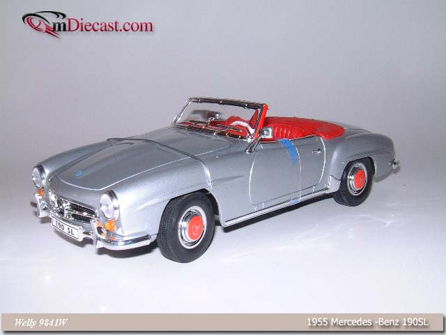 Welly: 1955 Mercedes-Benz 190SL - Silver (9841) in 1:18 scale